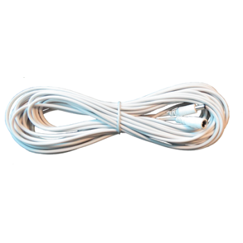 Voeding verlengkabel 12 meter wit (12V)
